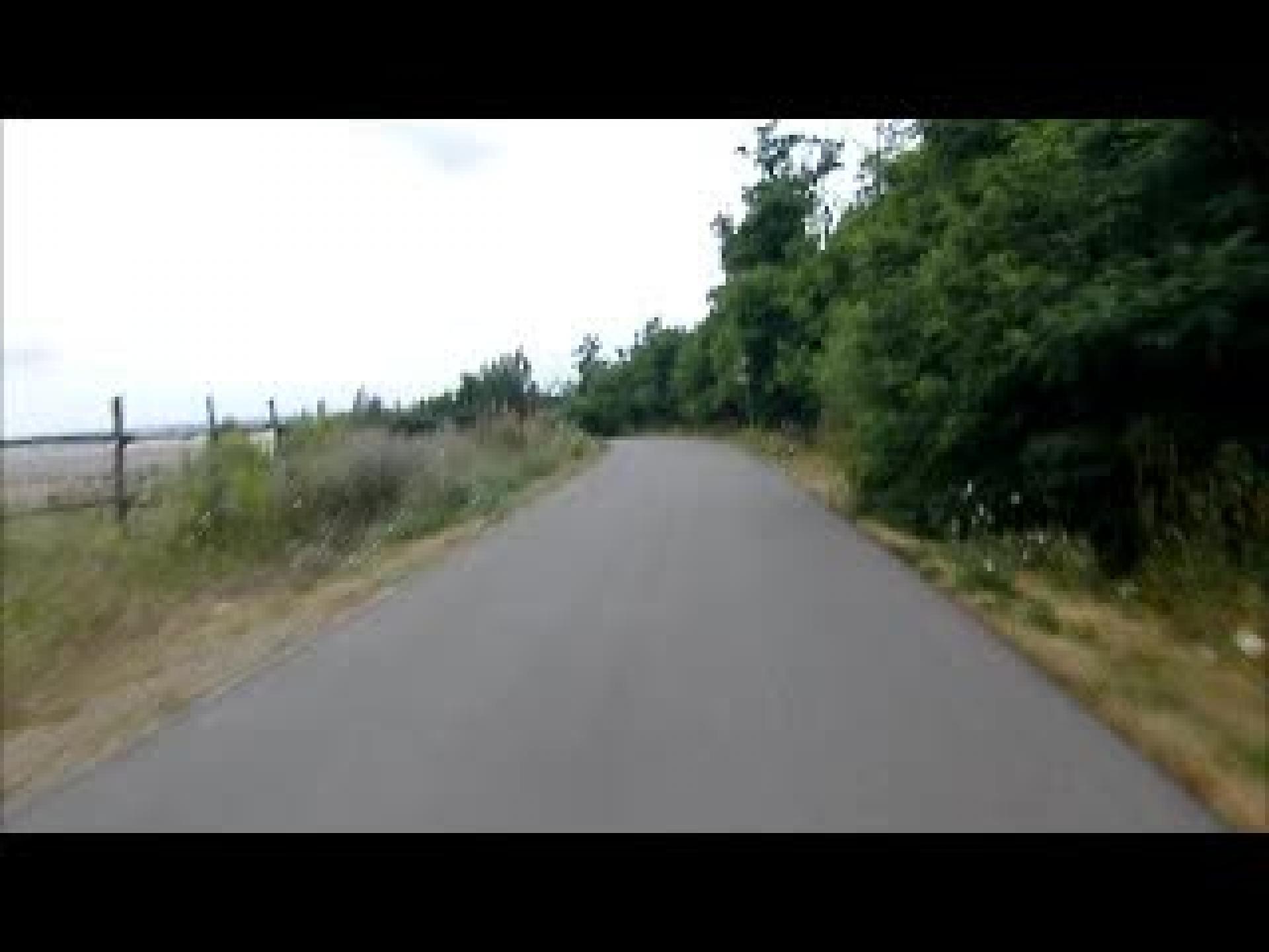 Geiseltalsee-Abfahrt vom Weinberg